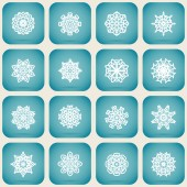 Christmas set of snowflakes — Vettoriale Stock