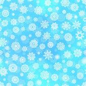 Padrão sem emenda de floco de neve — Vetor de Stock