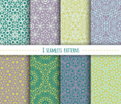 Set of seamless geometric patterns — Stock Vector