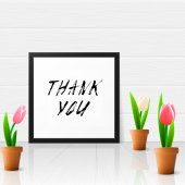Thank you with tulip flowers — Stock Vector
