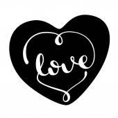 Love handmade  calligraphy — Stock Vector