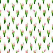 Belo padrão sem emenda com flores tulipa rosa — Vetor de Stock