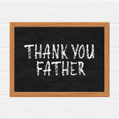 Thank you father — Stock Vector