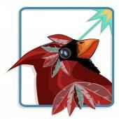 Cardinal bird — Stock Vector