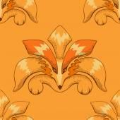 Fox pattern — Stock Vector