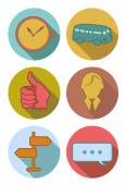 Round icons river — Stock Vector