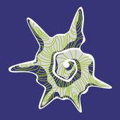Gray shell — Stock Vector