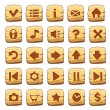 Set of gold square buttons, vector game icons — Stockvektor  #62620903