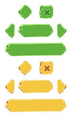 Set of cartoon buttons vector gui elements — Stockvector