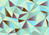 Soyut pastel üçgenler 3d arka plan — Stok Vektör