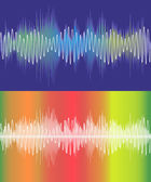 Set of vector music volume waves — Stock Vector