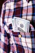 Business. money in the pocket — Foto de Stock