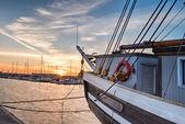 Ship on Sunrise. — Stockfoto