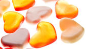 Gummy hearts — Stock Photo