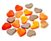 Corações gummy — Fotografia Stock