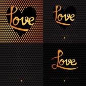 Romantic greeting love card — Stock vektor