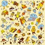 Crazy doodle mega set. — Stock Vector #52088661
