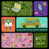Back to school banners. — Stock Vector