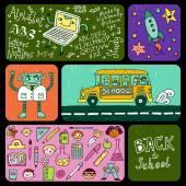 Tillbaka till skolan banners. — Stockvektor