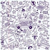 Back to school doodle — Stock Vector