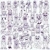 Dudes doodle set — Stock Vector