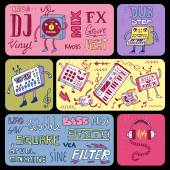 Electronic music banners — Stock Vector