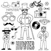 Funny hipster set. — Stock Vector