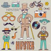 Vintage mister hipster — Stock Vector