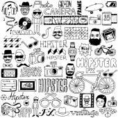 Hipster doodle mega set — Stock Vector