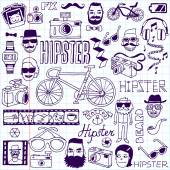 Hipsters doodles set. — Stock Vector