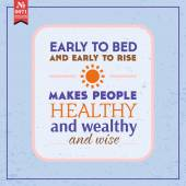 Early to bed and early to rise — Stock Vector