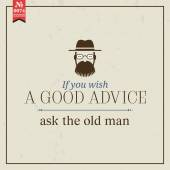 Good advice ask old man — Stock Vector