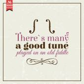 There is many good tune — Stock Vector