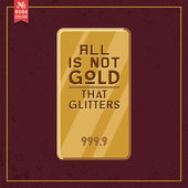 All is not gold that glitters — Stok Vektör