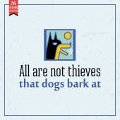 All are not thieves. proverb — Stock Vector