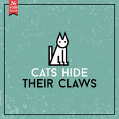 Cats hide their claws. proverb — Vector de stock