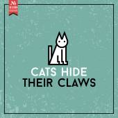 Cats hide their claws. proverb — Stock Vector