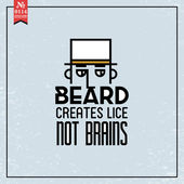 Beard creates lice not brains — Stock Vector