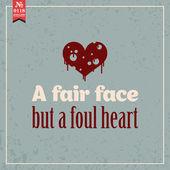 Fair face but foul heart — Stock Vector