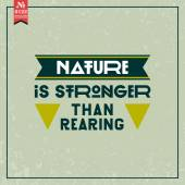 Nature is stronger than rearing — Stock Vector