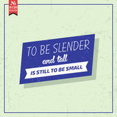 To be slender and tall. — Stock Vector