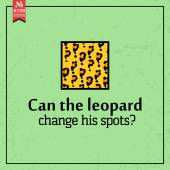 Can leopard change spots? proverb — Stock Vector