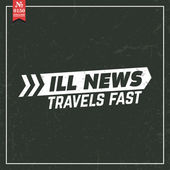 Ill news travel fast. proverb — Stock Vector