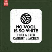 No wool is so white. proverb — Stock Vector