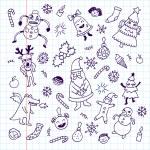 Happy new year doodle set — Stock Vector #54353055