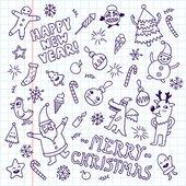 Happy new year doodles — Stock Vector