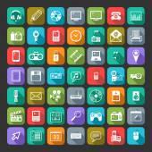 Multimedia icons set. — Stock Vector