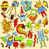 Crazy doodle set. — Stockvector