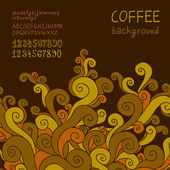 Coffee background. — Stock Vector