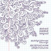 Abstract doodle background school notebook — Stock Vector